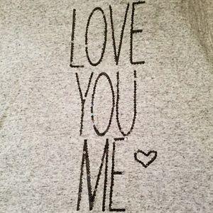 T SHIRT GRAY  LOVE  YOU  ME